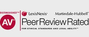 Distinguished AV | Peer Review Rated For Ethical Standards and Legal Ability | LexisNexis Martindale Hubbell